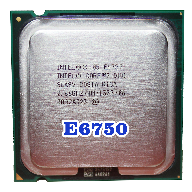 Original INTEL  Core 2 Duo E6750 CPU Processor (2.66Ghz/ 4M /1333MHz) 65W Socket 775