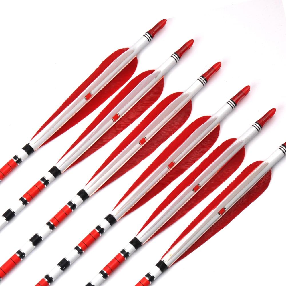 6/12 / 24st 80cm ryggrad 500 kolfiber OD7.6mm ID6.2mm med 2 röda och - Jakt - Foto 2