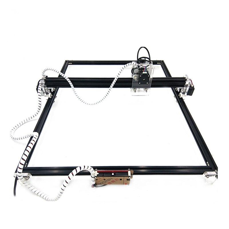50*65 cm Mini 2500/5500 MW 15 W CNC Machine de gravure Laser 2 axes DC 12 V bricolage graveur bureau bois routeur/Cutter/imprimante