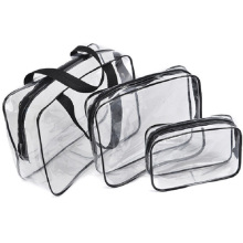 3pcs Baellerry Clear Makeup Waterproof PVC Cosmetic Bags Portable Toiletry Travel Wash Storage Pouch Transparent Organizer