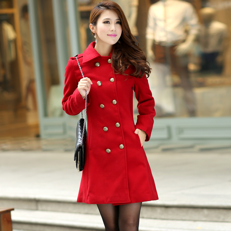 New Nice Outerwear & Coats Winter Dress Red Double ...