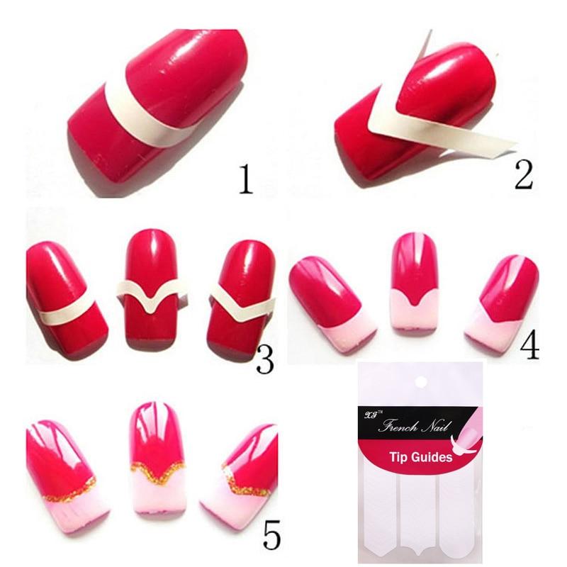 240 piezas decoración de uñas DIY guías pegatinas para mujeres pegatinas de uñas para herramientas de diseño de uñas pegatinas francesas manicura