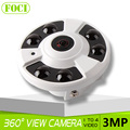 Fisheye 5MP Lens CCTV Security 3 Megapixel 360 Degree Panoramic IP Camera Onvif 3MP 1 To 4 Video Cutting IR 20M,Metal Housing