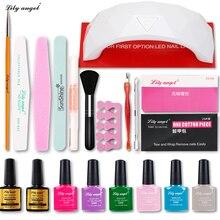Lily angel 9W Led lamp Dryer 110 colors Choose  Nail Gel polish Top & Base Coat kit Home use art tools kits sets uv manicure