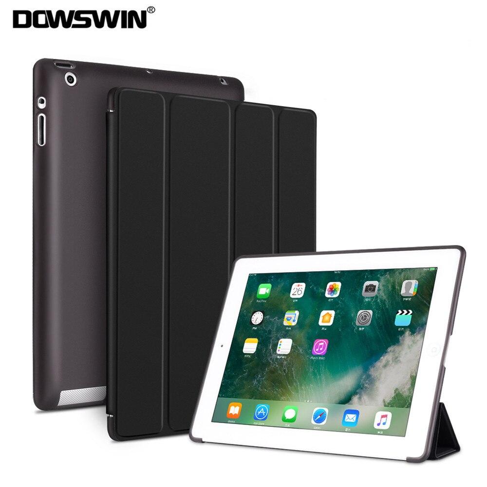 DOWSWIN el caso para el iPad 2/3/4 suave cubierta TPU Funda de cuero para iPad 4 Flip inteligente para iPad 2 caso Auto dormir/despertar