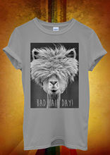 Bad Hair Day LLama Lama Hipster Men Women Unisex T Shirt  Top Vest 329 New T Shirts Funny Tops Tee New Unisex Funny Tops