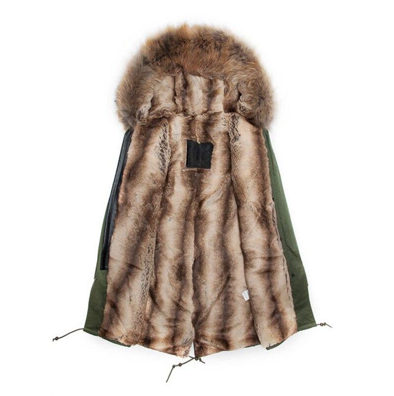 New Mr fur male winter warm raccoon rabbit fur parka, raccoon faux rabbit fur coat men hooded Mrs outwear