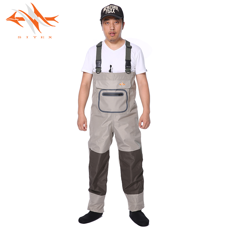 2018 sitex Brand Nylon Waterproof Breathable Camouflage Fishing Wader for fishing Hunting waterproof Ghillie Suit fishing