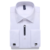 Alimens 8XL 7XL Big Size Slim Fit Long Sleeve Male French Cufflink Dress Shirts Brand Camisa