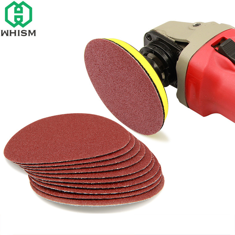 WHISM 3 Inches Sanding Paper Aluminum Oxide Polishing Pad Grinding Paper Disc Sandpaper Polisher Mat 80-3000 Grit Abrasive