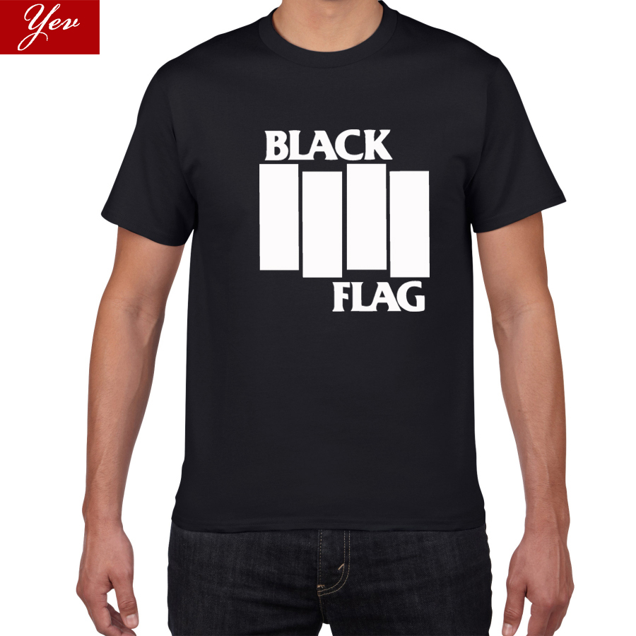 BLACK FLAG Rock Band Summer T-Shirt Hip Hop Men T Shirt 100% Cotton Short Sleeve Round Neck Tee New Street Wear Men Clothes Pok