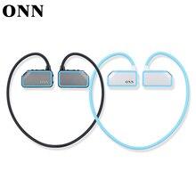 2016 18074tw/75 onn x3 wireless bluetooth deporte reproductor de mp3 con auriculares de alta fidelidad auricular manos libres 8 gb tarjeta sd micro sweatproof
