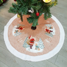 100cm/39.5inch New Lovely Red Christmas Tree Skirt Santa Claus Deers Bells Design Cover Base Decoration Xmas Tree Cover Decor christmas bells tree santa claus zip up hoodie