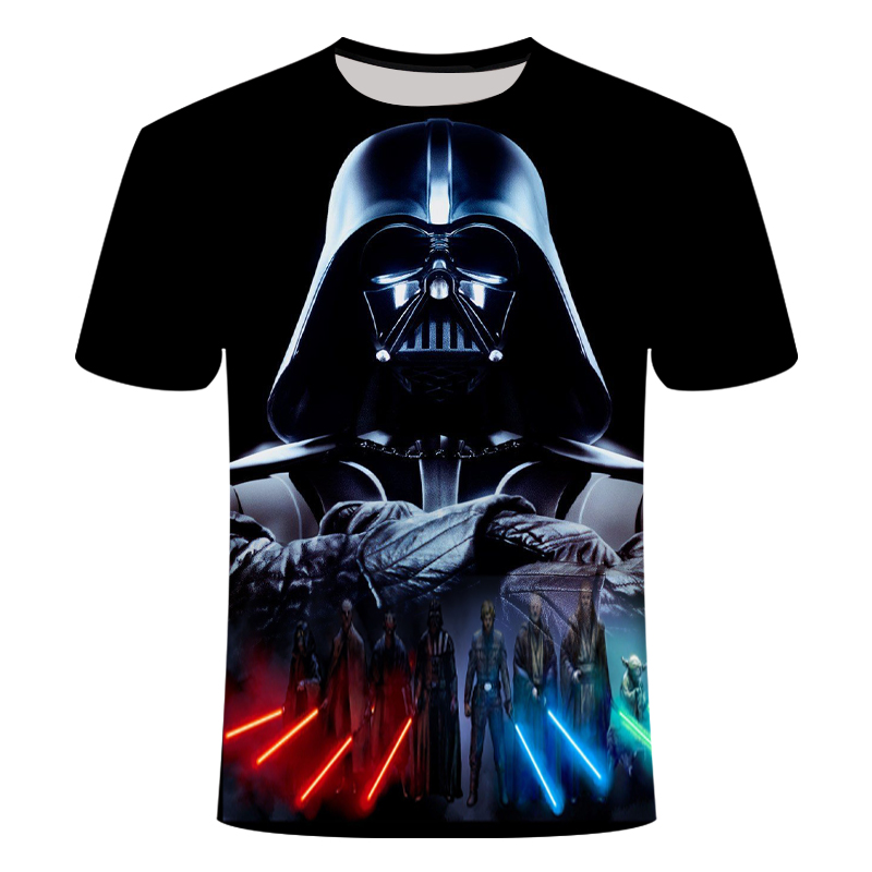 2019 Novelty T Shirt New Star Wars T-shirt Cartoon Harajuku Adult Darth Vader Comfort Fashion Hiphop Saucer Man Asian Size S-6XL