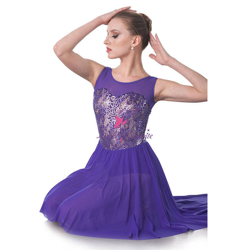 Danza favorito azul marino trajes de danza lírica mujeres y Niña ...