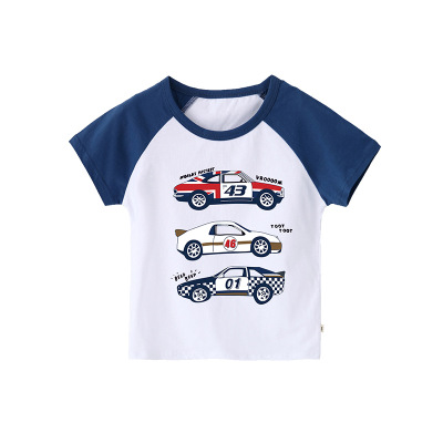 <font><b>2</b></font> 3 4 5 6 7 8 9 Years Boys T-<font><b>shirts</b></font> Korean Cartoon Car Short Sleeve Stitching <font><b>Shirt</b></font> for Boy Kids Clothing Summer Tops Baby Tees image