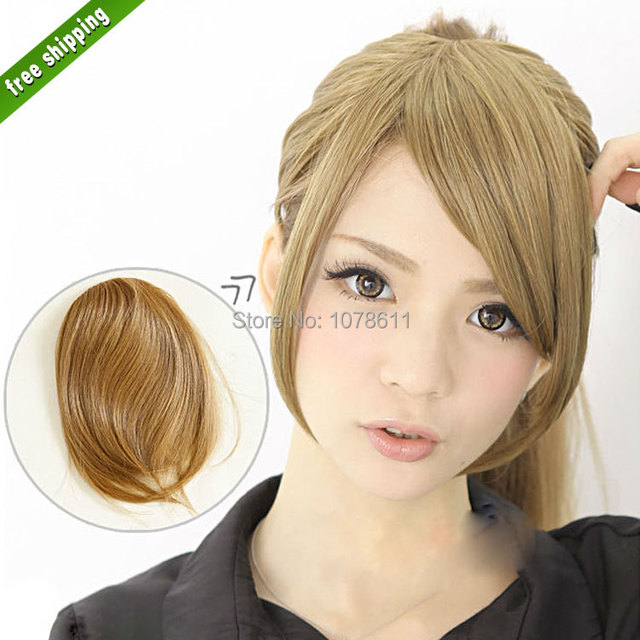 Synthetic Blonde Hair Extensions Clip In Bangs Fringes Franja Bangs