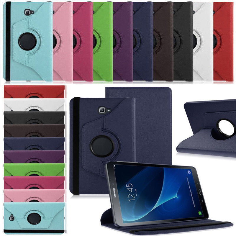 For Samsung Galaxy Tab E 9.6 SM-T560 T561 Case 360 Rotating Case Cover Quality PU Leather Stand Smart Tablet Case Cover Luxury top quality smart pu leather cover for samsung galaxy tab e 9 6 t560 t561 tablet case tablet slim protective shell pen