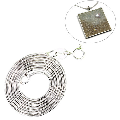 Beadsnice Solid 925 Sterling Silver Jewelry Wholesale Italian 1mm Snake Chain 18inch Silver Necklace special design ID28722