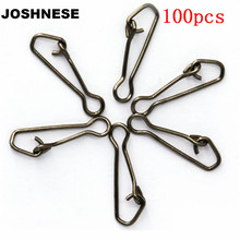 100pcs/lot QL Hooked Swivels Snap Stainless Steel Sea Fishing Tackle Hook Lure Connector Fishing Swivel Snap Pin Fishhooks