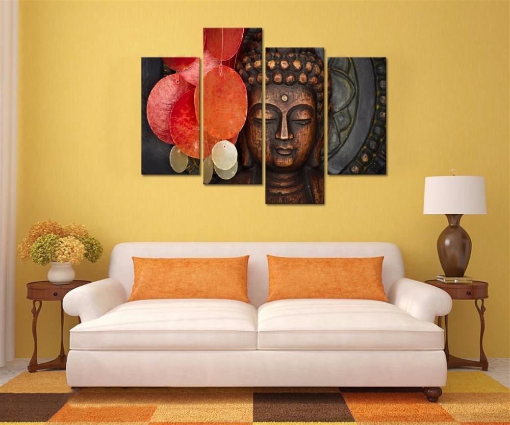 Buddha Canvas Wall Art Wood Buddha Statue Canvas Prints Keep inner ...
