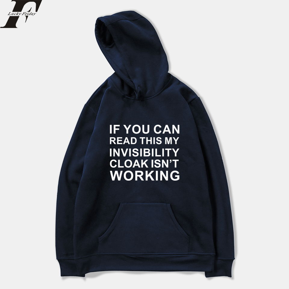 Invisible Cloak Spring Hoodie Sweatshirts Funny Letter Print Harajuku Casual Hoodies Men/Women Printing Pullover Clothes