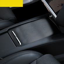 lsrtw2017 carbon fiber film car center control armrest for tesla model s x 2015 2016 2017 2018 2019 75d 100d 90d