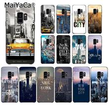 MaiYaCa NYC NEW YORK city landscape Times Square Taxi Phone Case for Samsung Galaxy S8 S7 edge S6 edge plus S10 S9 case M10(China)