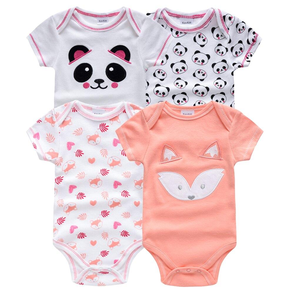 Kavkas/одежда для сна для маленьких мальчиков, комплект из 4 шт./компл., одежда с короткими рукавами для новорожденных, пижамы для мальчиков, Infantile, одежда для сна для маленьких мальчиков - Цвет: HY21672168