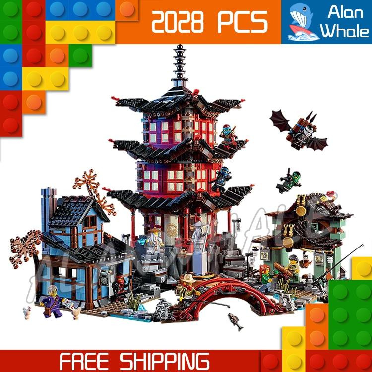 2028pcs Bela 10427 Temple of Airjitzu Building Blocks Ninja Model Bricks Best Large Gifts Toys Compatible With lego compatible with lego ninja 70751 2150 pcs 06022 blocks ninja figure temple of airjitzu toys for children building blocks 70603
