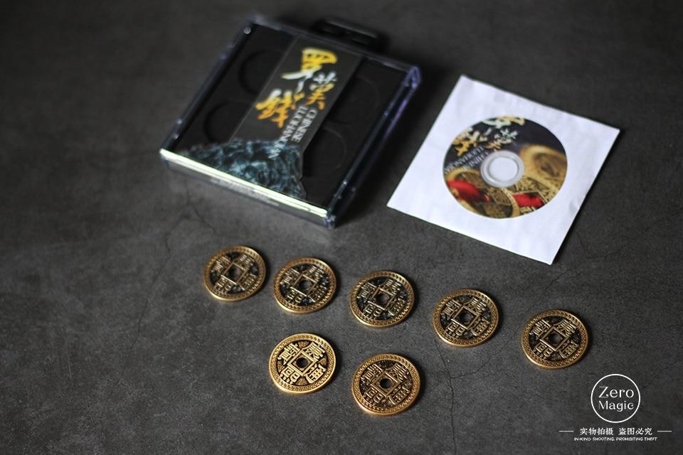 LuohanQian chino (tamaño como moneda Morgan 38mm) deluxe chino moneda antigua de trucos de magia que aparecen/desaparición cerca de accesorios-in Trucos de magia from Juguetes y pasatiempos on AliExpress - 11.11_Double 11_Singles' Day 1