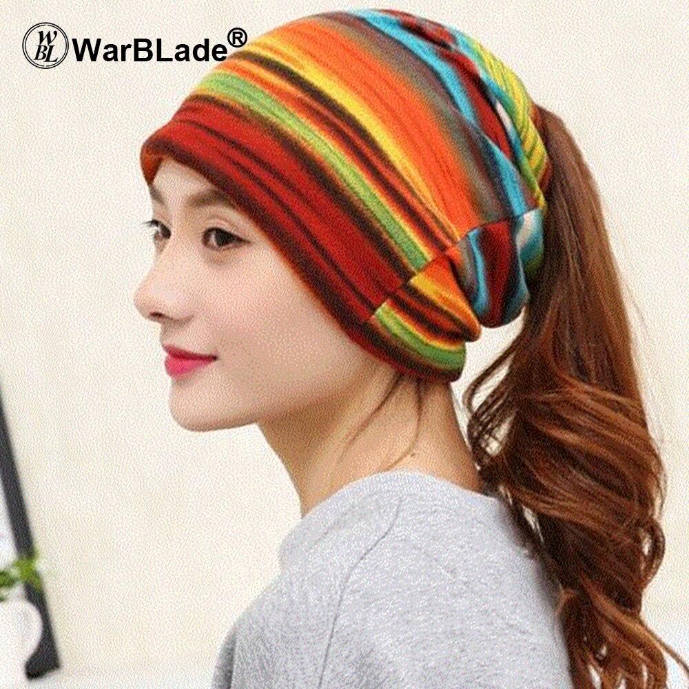 Warblade Knitted Scarf Winter Hats Skullies Beanies Women Girls Letter 3-Use-Cap