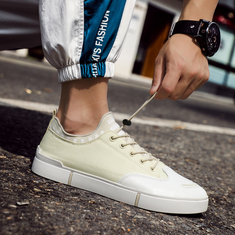 Fashion Men Casual Shoes Canvas Army