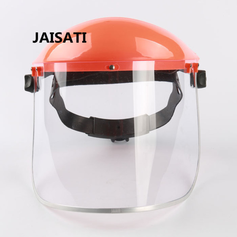 JAISATI Screen PVC protective mask helmets supporting face shield protective mask qiuzhang sw2107 outdoor war game military protective skeleton half face shield mask tan