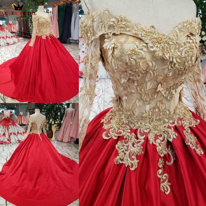 Anime Ball Gown White With Red Roses: Aliexpress.com : Buy Ball Gown Long Sleeve Satin Flowers