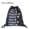 DreamShining Emoji Backpack Drawstring Bag Unisex Backpacks 3D Printing Travel Soft Backbag Men Mochila Feminina Canvas Backpack