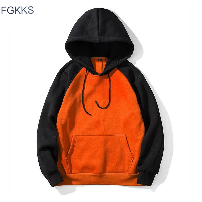 FGKKS Fashion Brand Men Hoodies Splice Top 2019 Spring Autumn Male Hip Hop Casual Hoodies Men's Sweatshirts Streetwear Hoodie