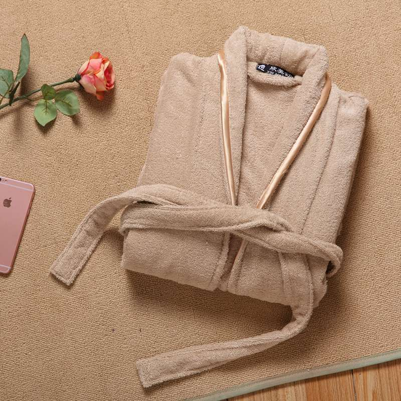 Winter Bathrobe Men Thick Cotton Robe Male Long Towel Fleece Bathrobe Man Plus Size XXL Sleepwear Thick Nightgown Warm Nightwear