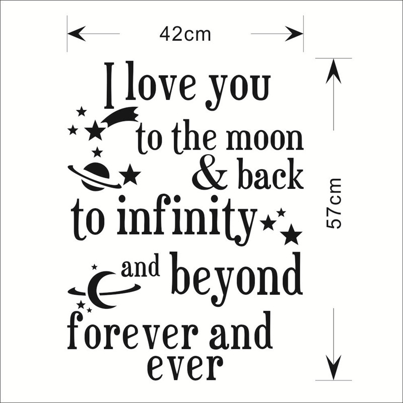 Quote I Love You To The Moon And Back Captivating New New I Love You To The Moon Back Quote Wall Stickers Wall
