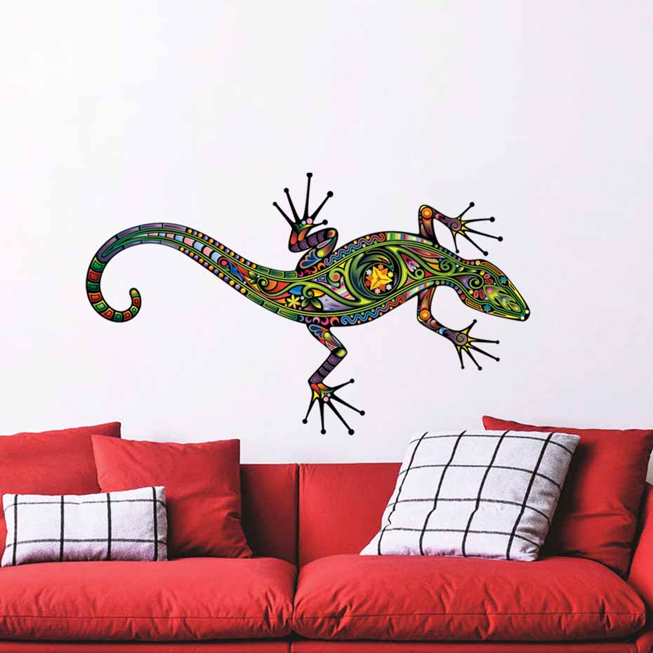 Big Lizards Wall Decals Cartoon Lizard Vinyl Stickers Reptile Animal Office House Interior Art Murals For Living Room Home Decor-in Wall Stickers from Home ...  sc 1 st  AliExpress.com & Big Lizards Wall Decals Cartoon Lizard Vinyl Stickers Reptile Animal ...