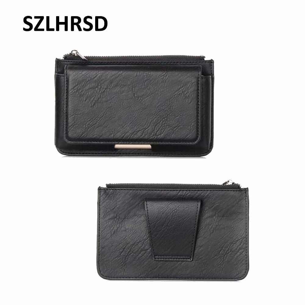 "SZLHRSD Multi-funzionale borsa cintura 5.5 ""mobile phone Case cover In Pelle per ASUS ZenFone 5 ZE620KL Max M1 ZB555KL 5Z ZS620KL"