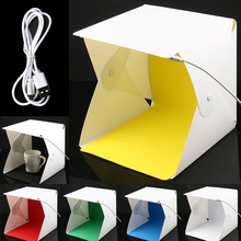 Mini Folding Studio Diffuse Soft Box Lightbox with LED Light Photography Background Photo S288