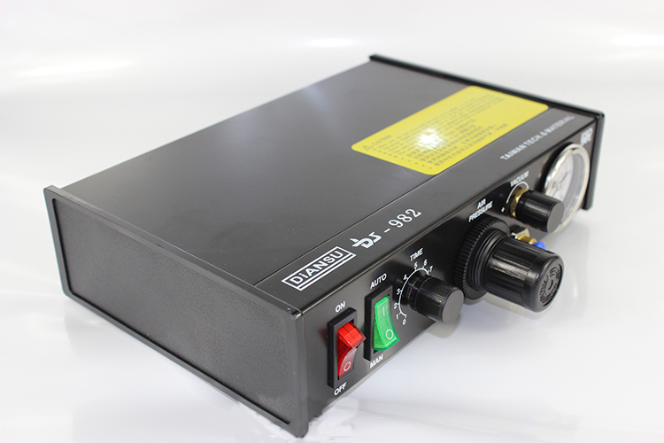 Semi-Auto Glue Dispenser 110V/220V PCB Solder Paste Liquid Controller Dropper Fluid Dispenser with English Manual DS-982 1pcs ds 982 ds982 semi auto glue dispenser pcb solder paste liquid controller dropper fluid dispenser 110v 220v