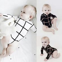 2016 new Plaid Baby Girl Boy summer Clothes NewBorn Body Baby Bodysuits Ropa Bebe Baby Bodysuit clothing
