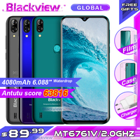 Blackview A60 Pro Smartphone MTK6761 Quad Core 6.088'' Waterdrop Screen 3GB RAM 16GB ROM Android 9.0 4G Mobile phone A60PRO