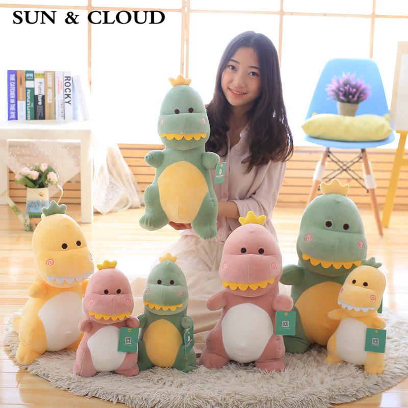 SUN & CLOUD 1 Pcs The Dinosaur Toy Gifts for Children Mr Dinosaur Toys Reassure Plush Dolls My Girlfriend a Gift