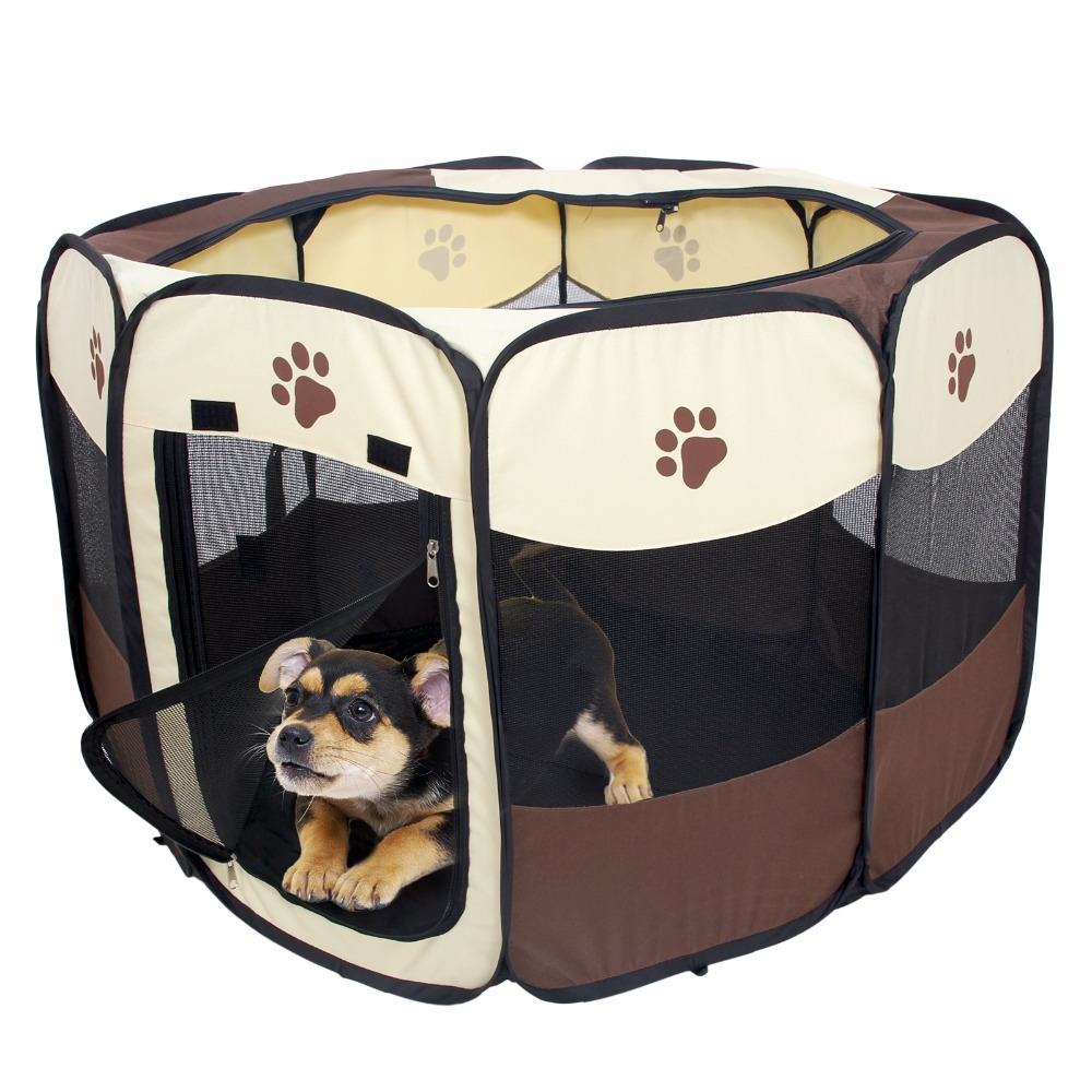 domestic delivery pet play pen puppy rabbit cage folding run dog fence garden crate pet kennel