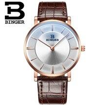 Binger Or Rose Montre-Bracelet Hommes Marque De Luxe Célèbre Mâle Horloge Montre À Quartz D'or Montre-Bracelet À Quartz montres Relogio Masculino