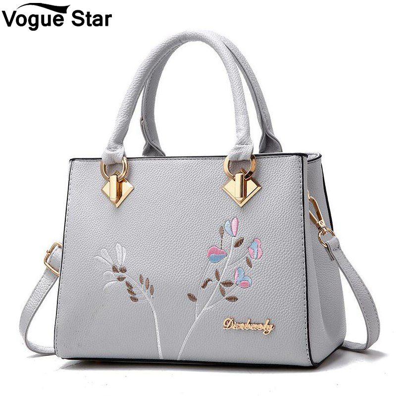flower women shoulder bags women pu leather tote bag
