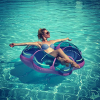 Newest 125CM Inflatable Gaint Crystal Jellyfish Swimming Ring Creative Design Women Swim Tube Beach Summer Water Party Pool Toys